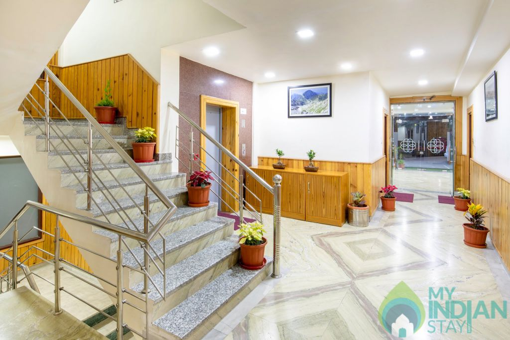 The Posh Hotel Lift Area in a Hotel in Dharamshala, Himachal Pradesh