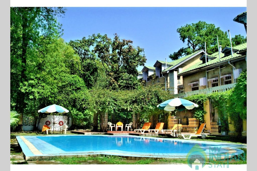Swimming pool in a Hotel in Palampur, Himachal Pradesh