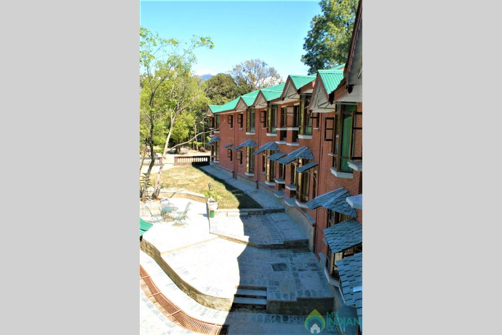 Exterior building view in a Hotel in Palampur, Himachal Pradesh