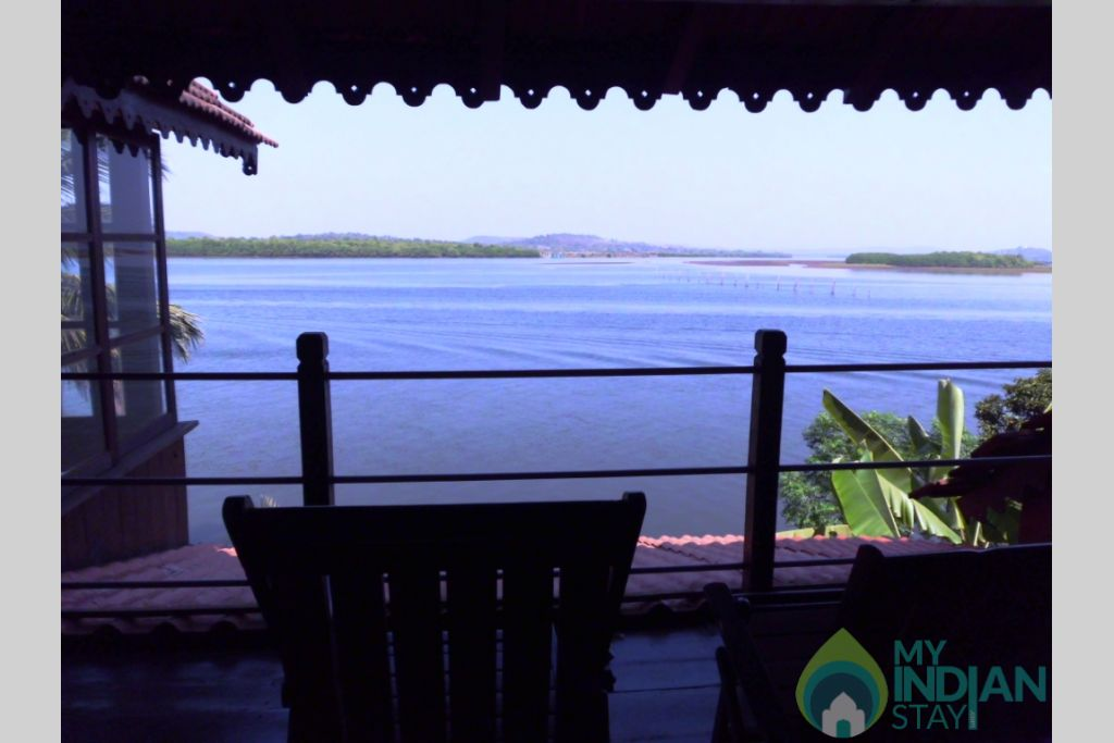 View of the River Mandowi in a House in North Goa, Goa