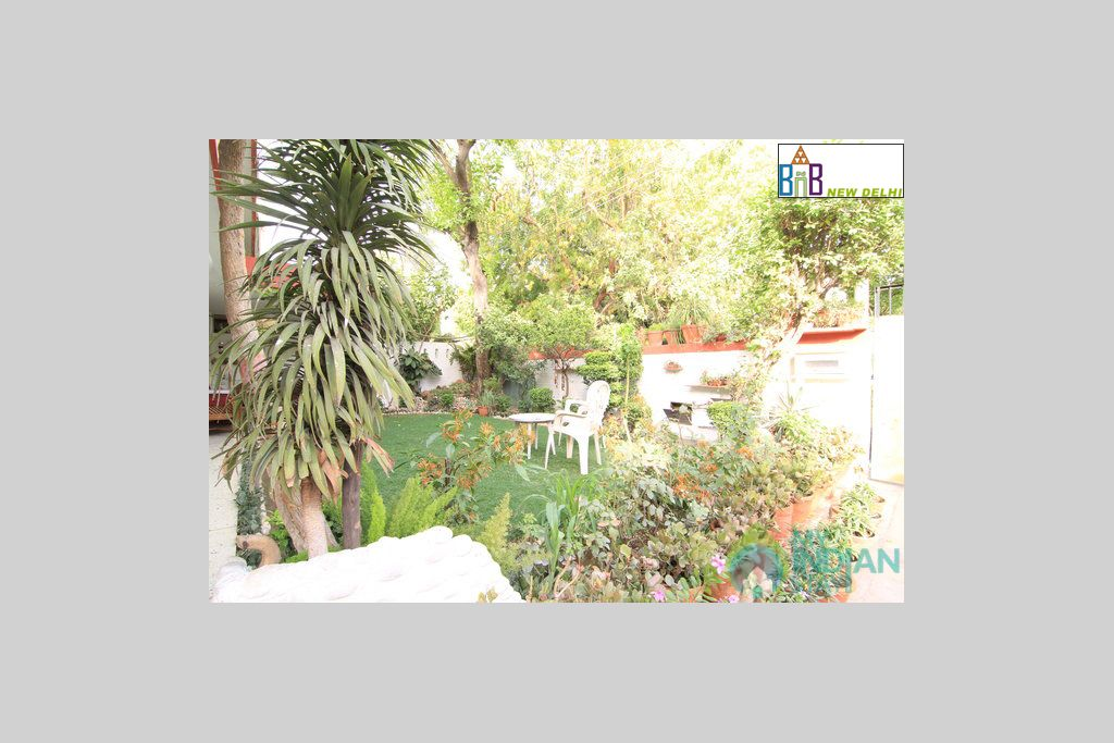 Our Garden Area in a Bed & Breakfast in New Delhi, Delhi