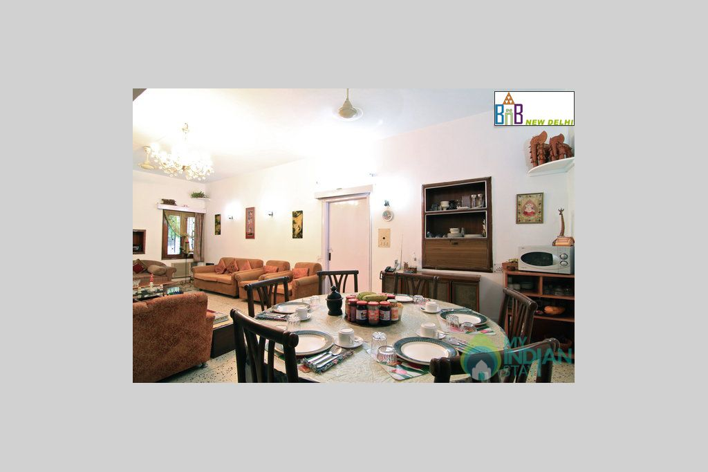 Common Area + Dinning Area in a Bed & Breakfast in New Delhi, Delhi