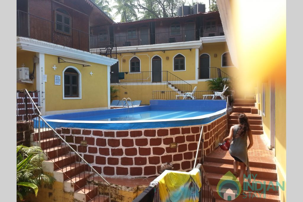 outside pool view in a Hotel in Canacona, Goa