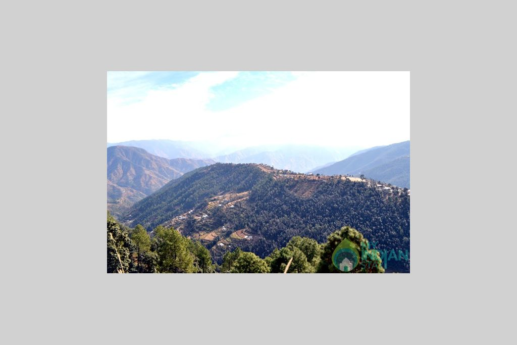 Valley  mountain View in a Hotel in Shimla, Himachal Pradesh