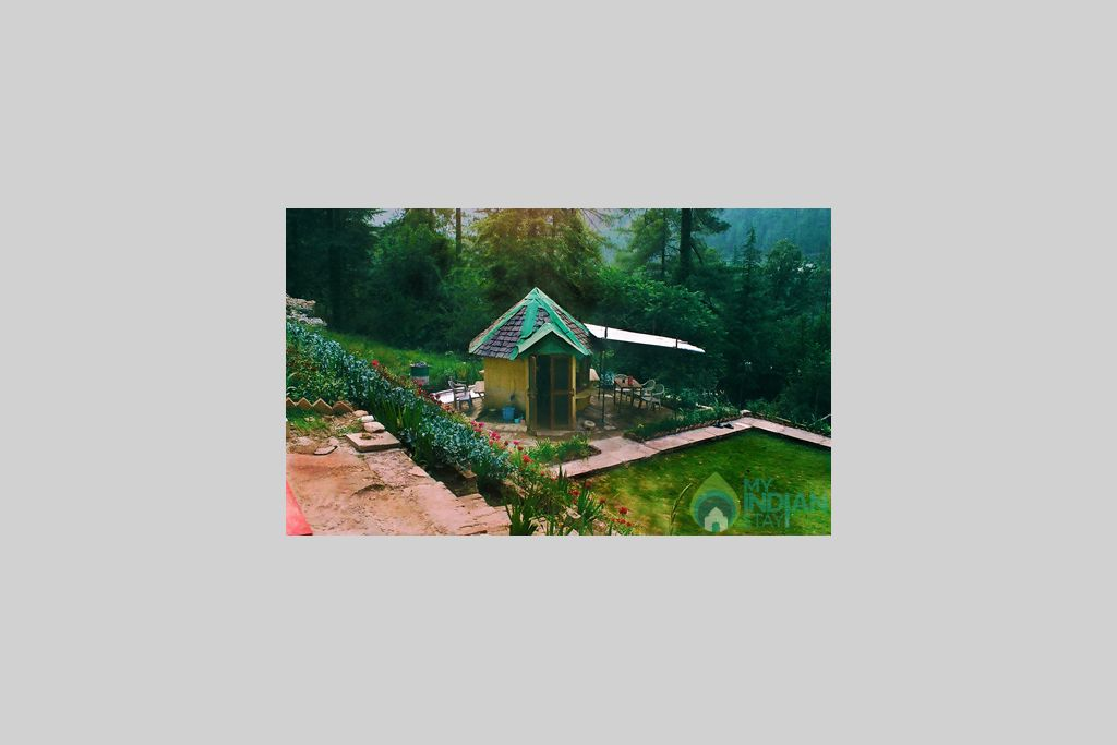 Garden View in a Cottage/Huts in Kasol, Himachal Pradesh