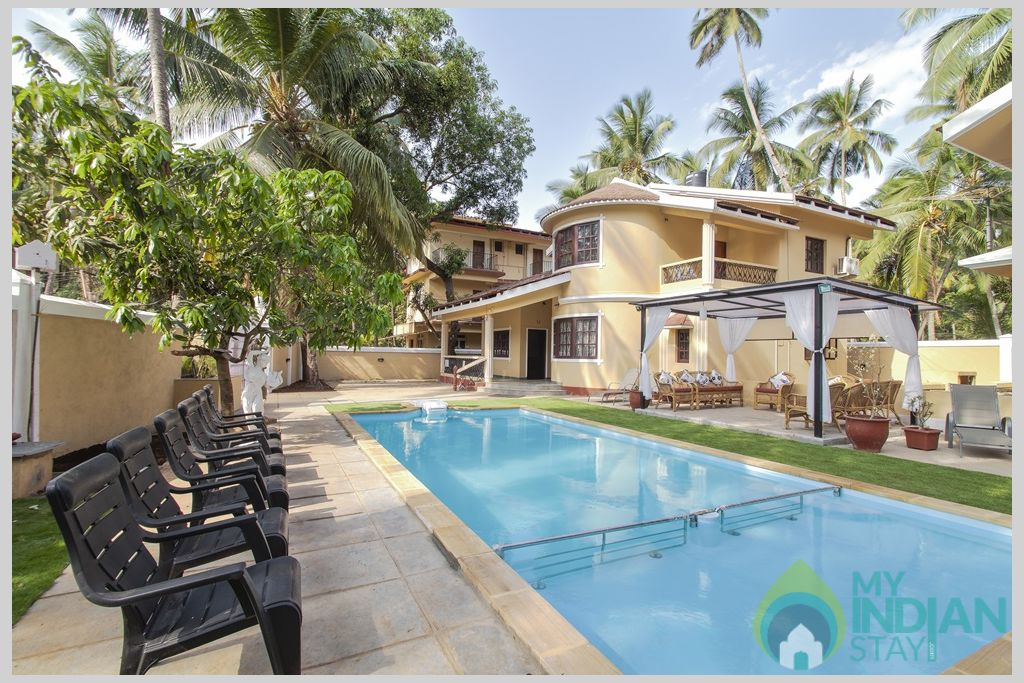 Swimming Poo-lVilla Calangute blends architecture and design to deliver a breathtaking holiday in a House in Calangute, Goa