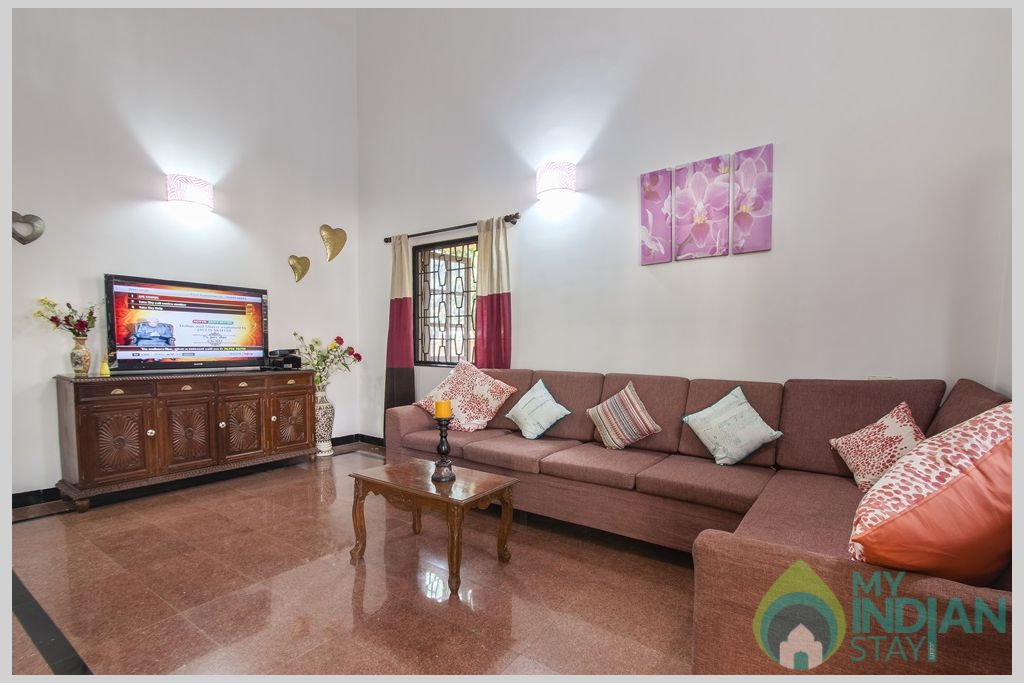 Living Room- Discover luxury and extraordinary hospitality standards at Villa Calangute in a House in Calangute, Goa