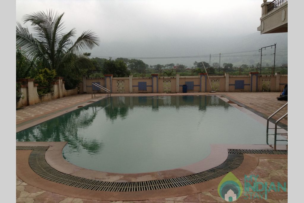 Swiming pool in a Serviced Apartment in Lonavala, Maharashtra