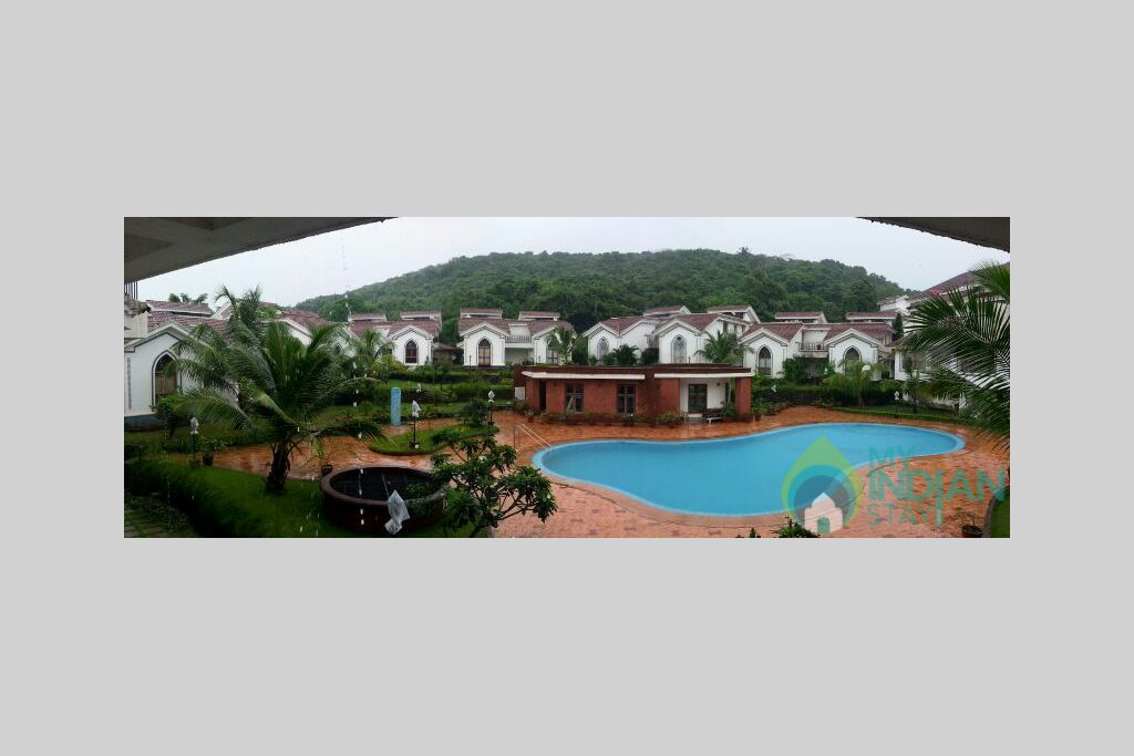 Balcony View in a Self Catered Apartment in Arpora, Goa