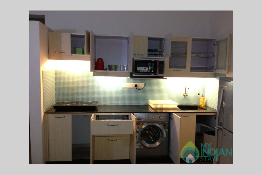 Fully loaded Kitchen in a Self Catered Apartment in Arpora, Goa
