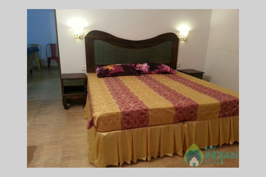bedroom in a Self Catered Apartment in Arpora, Goa
