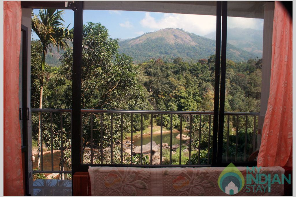 View from the Balcony in a HomeStay in Munnar, Kerala