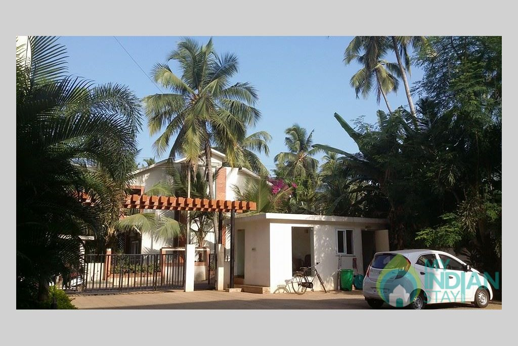 Outer View in a Serviced Apartment in Arpora, Goa