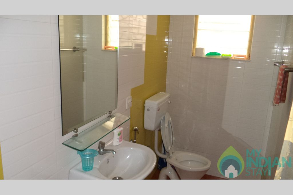 Washroom in a Self Catered Apartment in Calangute, Goa