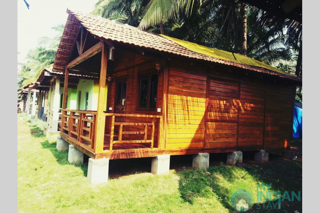 overview of the hut  in a Cottage/Huts in Morjim, Goa