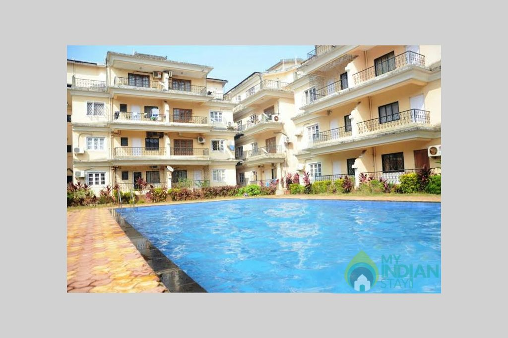 8 in a Self Catered Apartment in Calangute, Goa