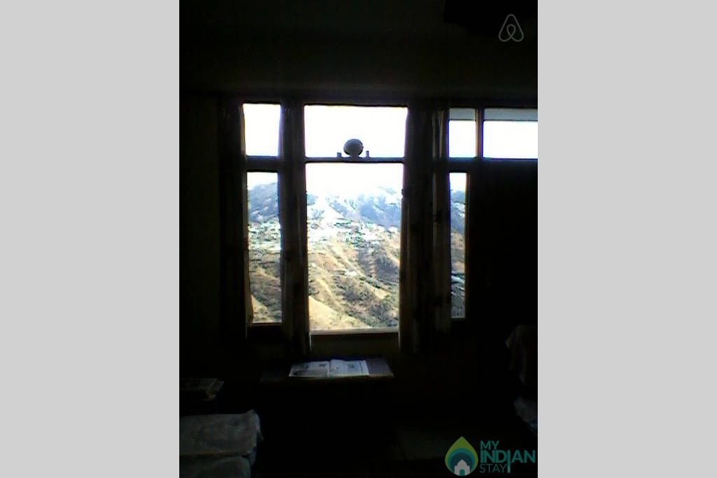 View from the bedroom in a Bed & Breakfast in Shimla, Himachal Pradesh