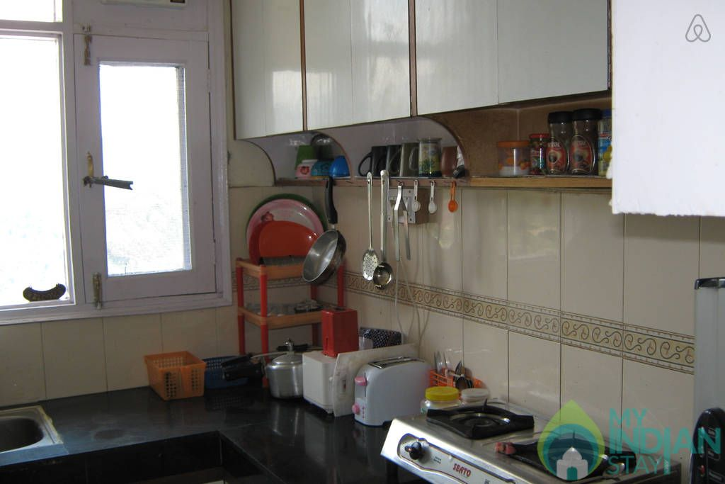 Kitchen in a Bed & Breakfast in Shimla, Himachal Pradesh