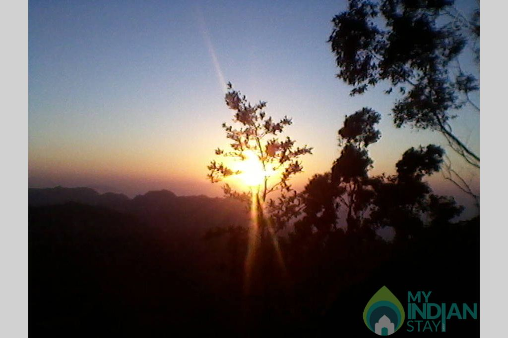 sun rise in a Bed & Breakfast in Shimla, Himachal Pradesh