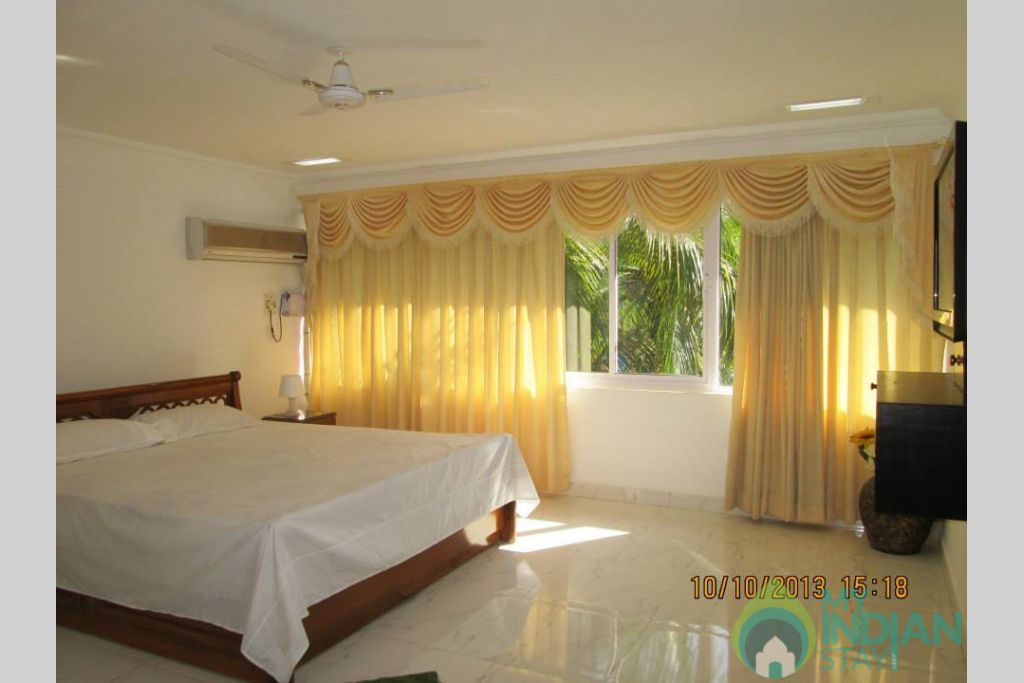 Bed Room  in a Serviced Apartment in North Goa, Goa