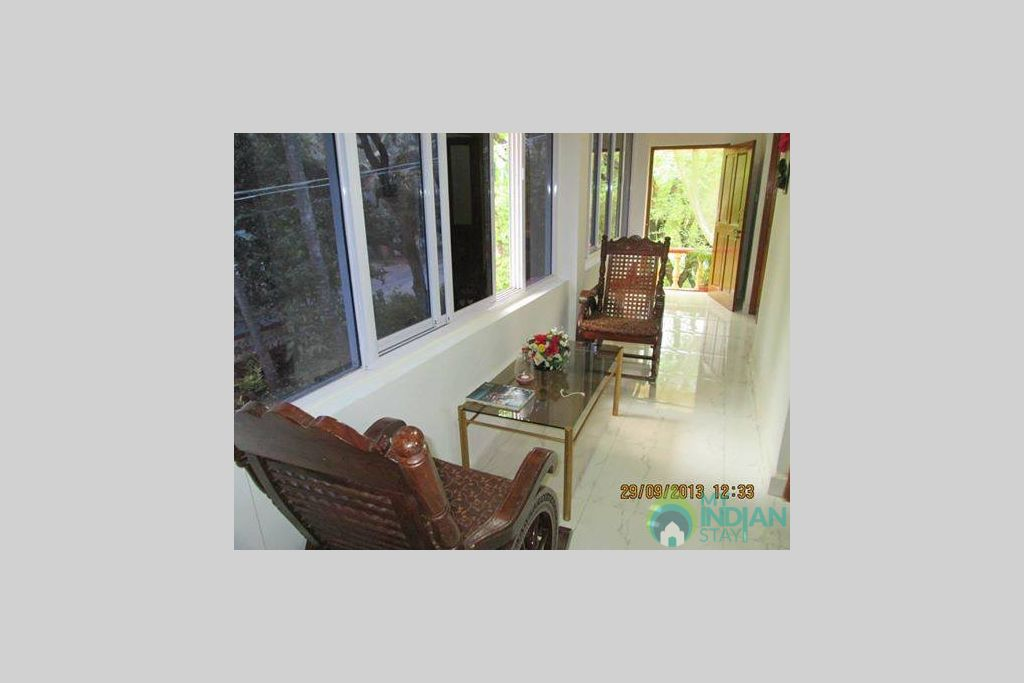 Common Sitting place in a Serviced Apartment in North Goa, Goa