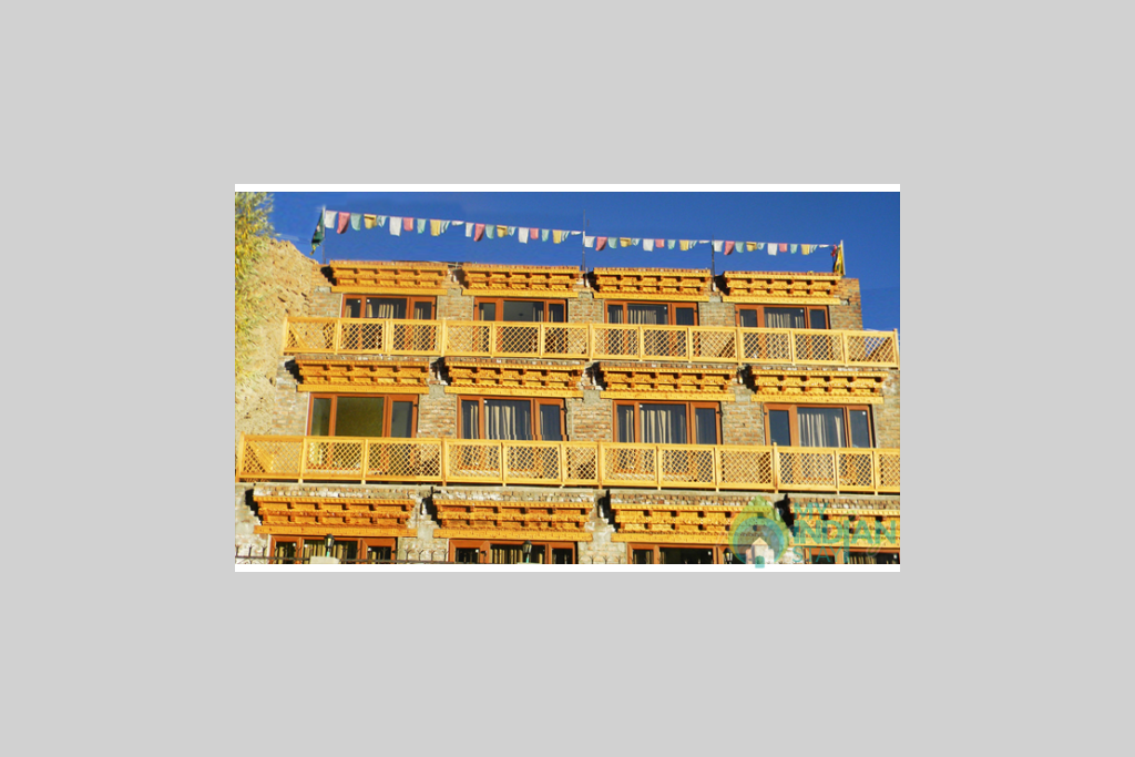 Over View of Building in a Bed & Breakfast in Leh, Jammu and Kashmir