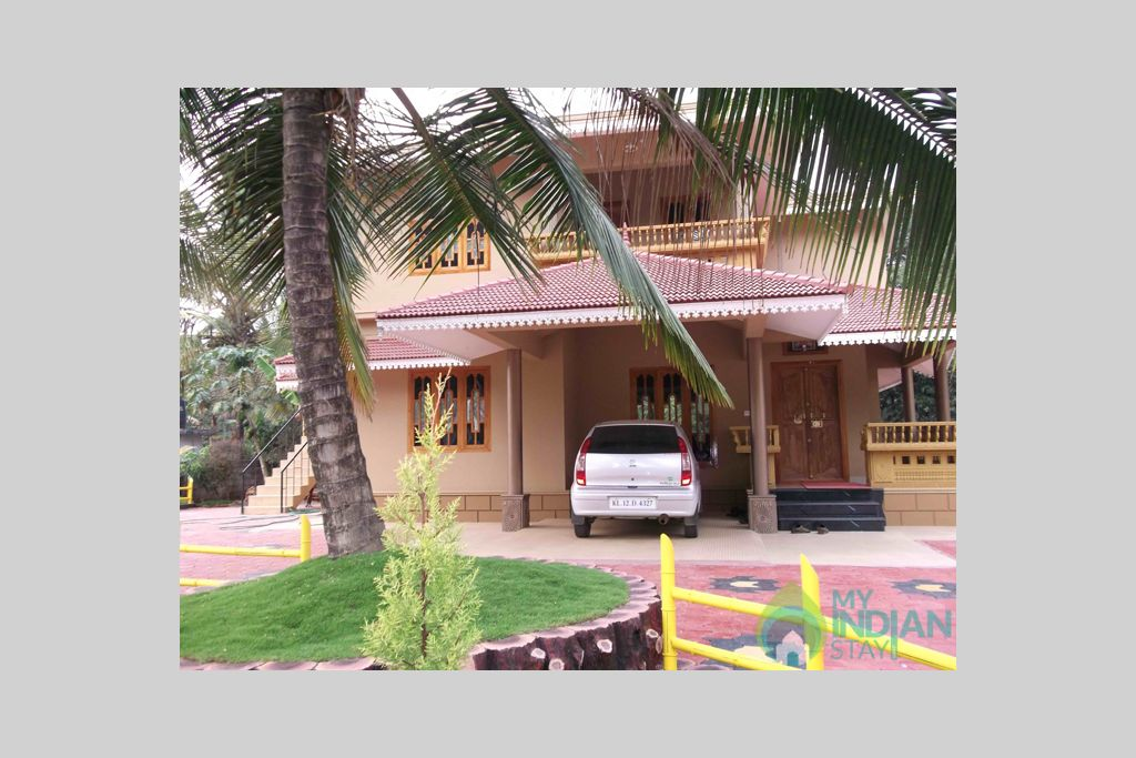 Front View from Far in a HomeStay in Padinjarathara, Kerala
