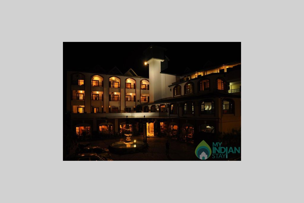 Night-View-of-Hotel in a Hotel in Kangra, Himachal Pradesh