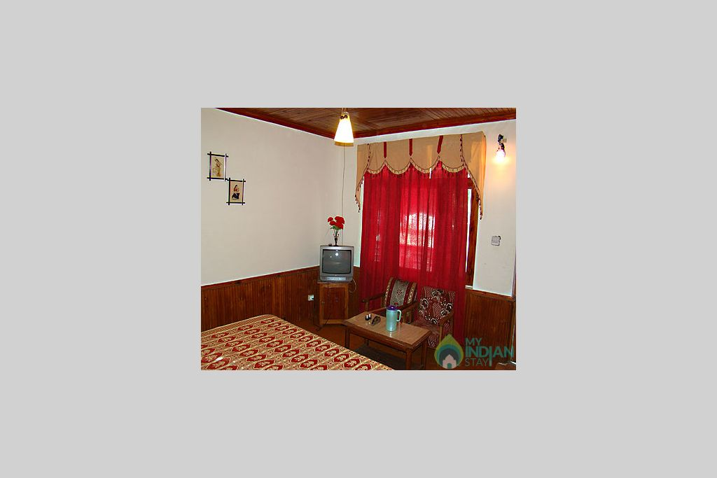 interior of room in a Hotel in Manali, Himachal Pradesh