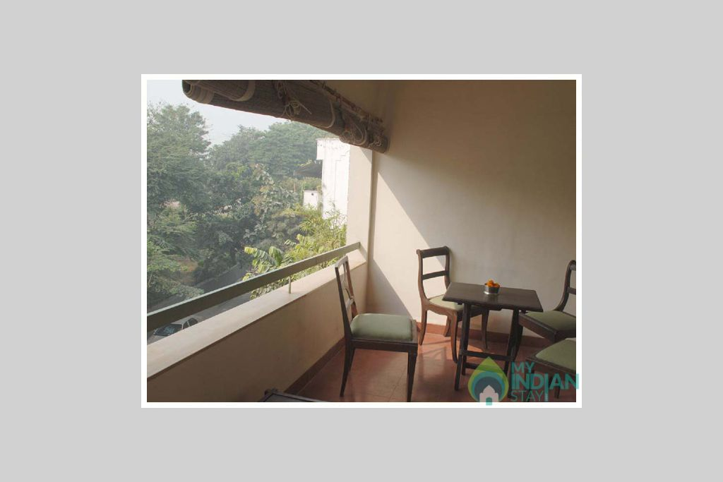 balcony view in a Bed & Breakfast in New Delhi, Delhi