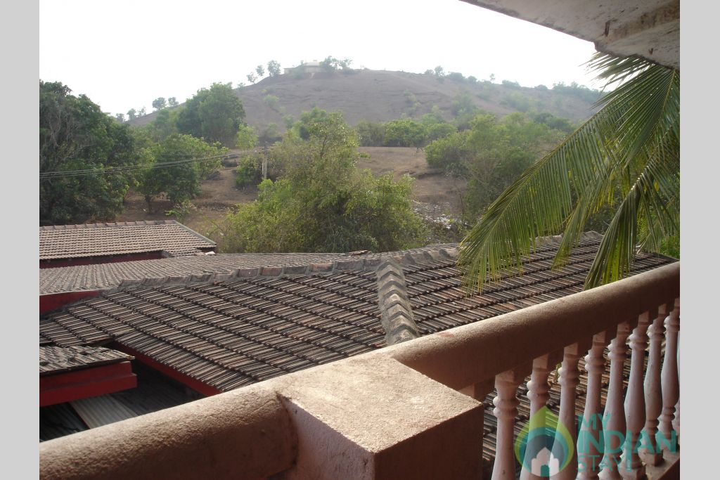 View from the first floor in a Guest House in Anjuna, Goa