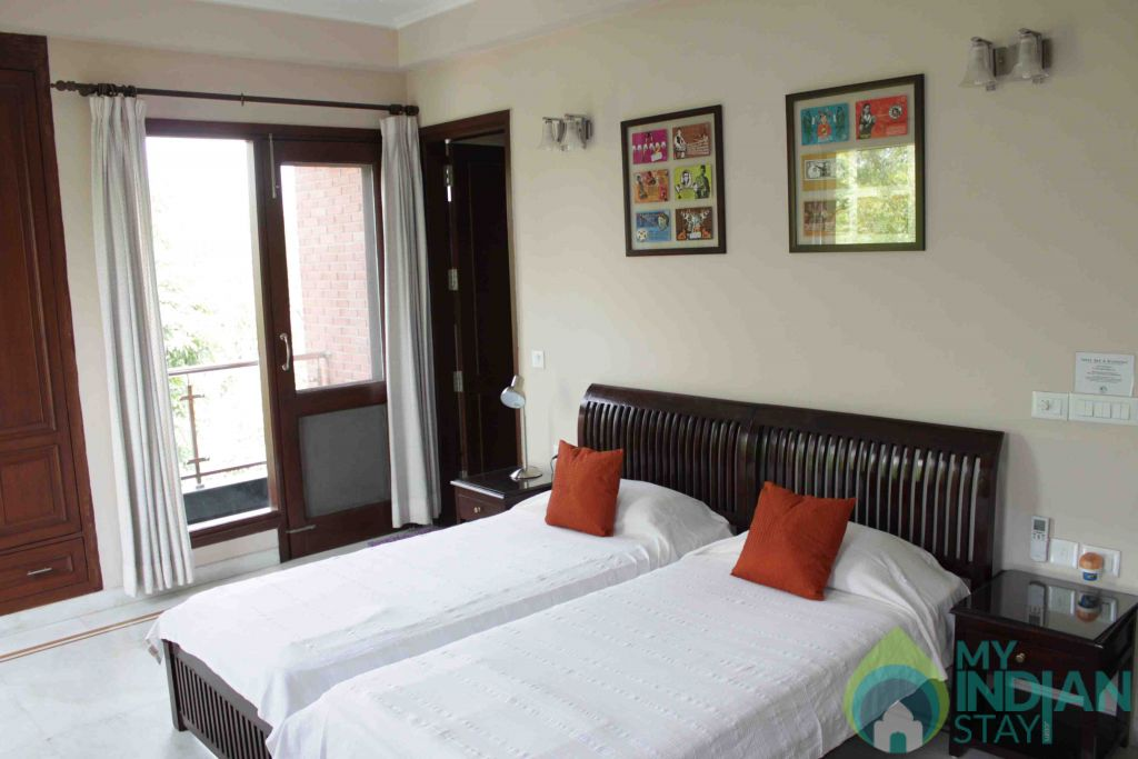Twin Bed in a Bed & Breakfast in New Delhi, Delhi