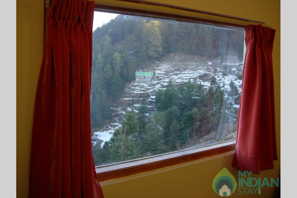 View from the Room in a Bed & Breakfast in Kufri, Himachal Pradesh