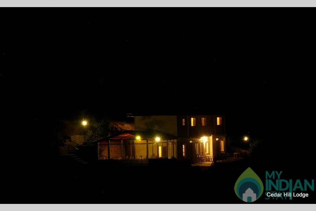 Cedar Hill in the Night in a Bed & Breakfast in Kufri, Himachal Pradesh