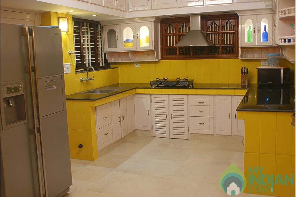 Kitchen in a HomeStay in Thiruvananthapuram, Kerala
