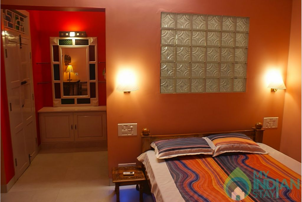 The Bedroom in a HomeStay in Thiruvananthapuram, Kerala