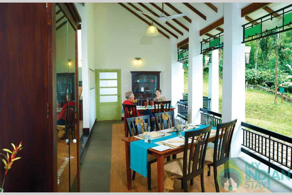 Dinning Area in a HomeStay in Kumily, Kerala