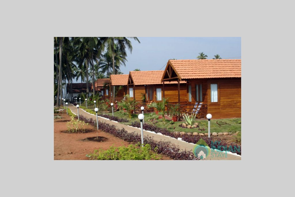 Side View of Cottages in a Cottage/Huts in Mandrem, Goa