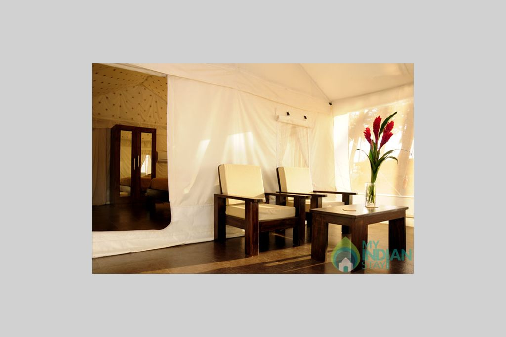 Dinning Table in tent in a Cottage/Huts in Mandrem, Goa