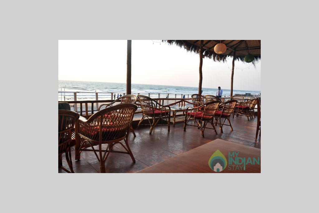 Restaurant View in a Cottage/Huts in Mandrem, Goa