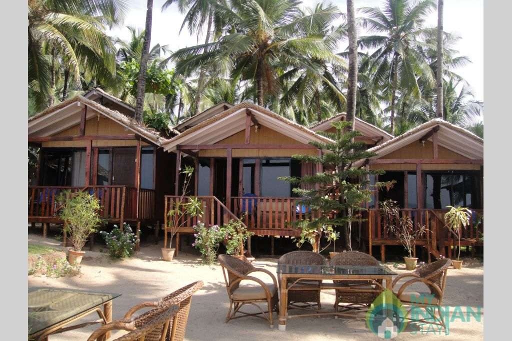 Front view in a Cottage/Huts in Canacona, Goa