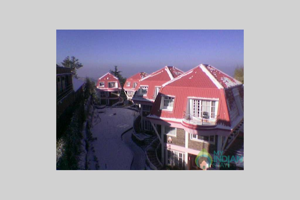 Cottage front View in a Resort in Shimla, Himachal Pradesh
