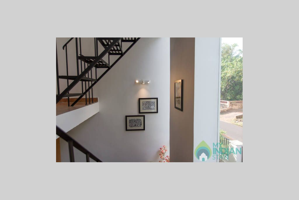 the internal staircase pic 2 in a Villa in Varca, Goa