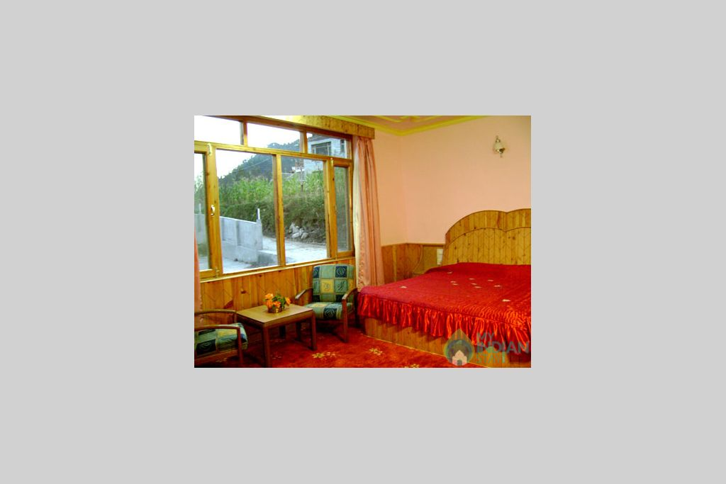 View From Bedroom in a Guest House in Manali, Himachal Pradesh