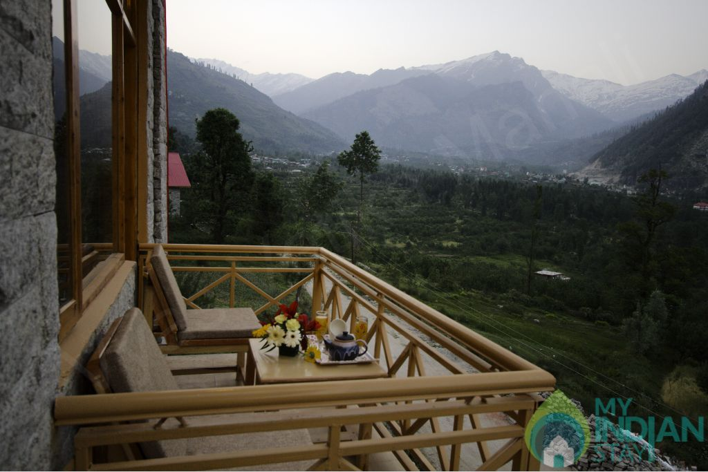 Evening View From Balcony in a Guest House in Manali, Himachal Pradesh