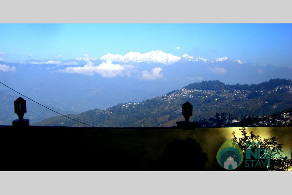 View from the Garden in a HomeStay in Darjeeling, West Bengal