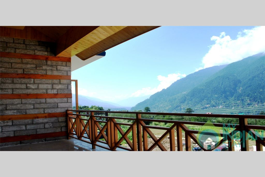 Evening View From Balcony in a Cottage/Huts in Manali, Himachal Pradesh