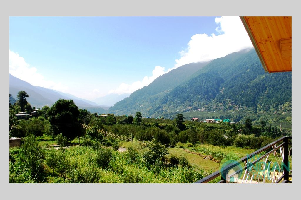 Outside View From Balcony in a Cottage/Huts in Manali, Himachal Pradesh