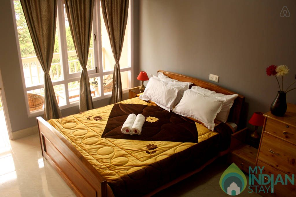 Bedroom in a Guest House in Kalimpong, West Bengal