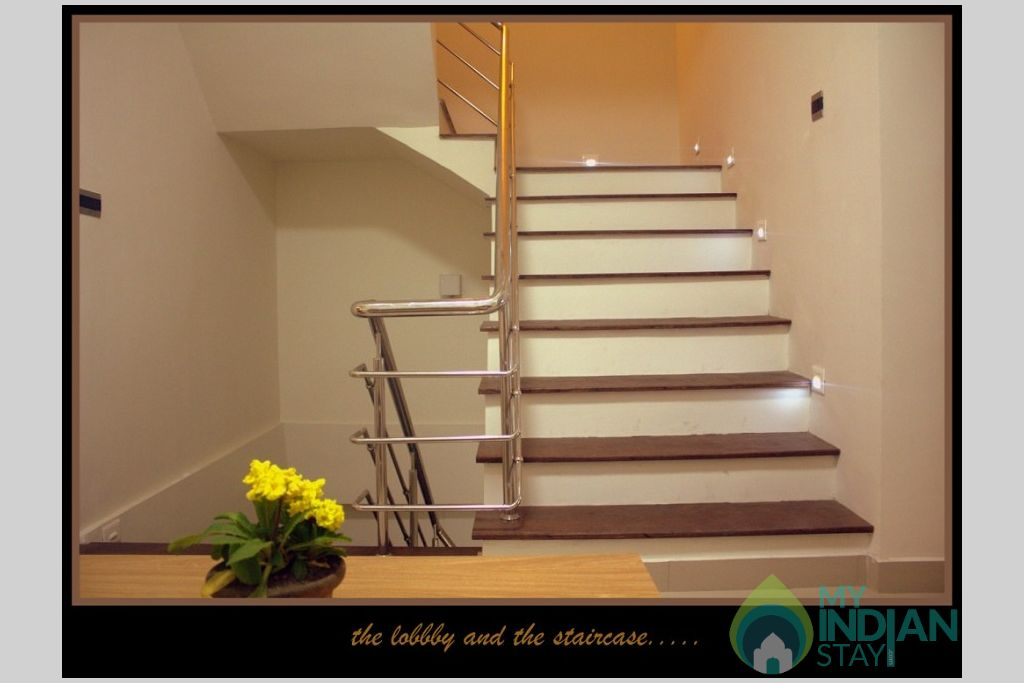 Lobby And Staircase in a Serviced Apartment in Gangtok, Sikkim